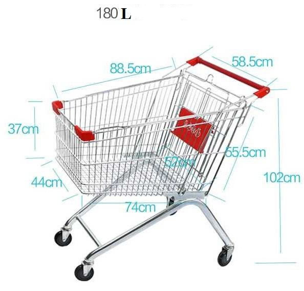 Xe đẩy siêu thị 180 L