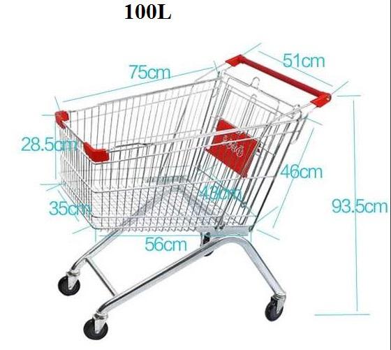 Xe đẩy siêu thị 100 L