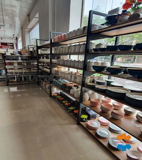 Kệ gỗ siêu thị tại Hải Dương