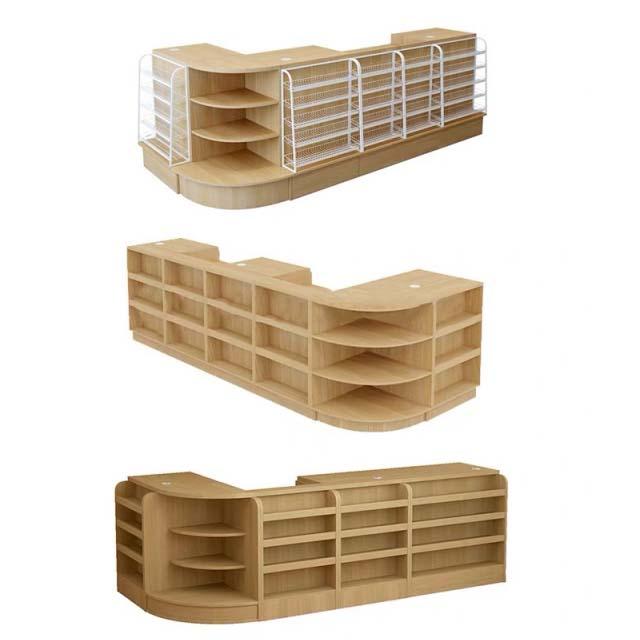 Bàn thu ngân gỗ công nghiệp chữ L